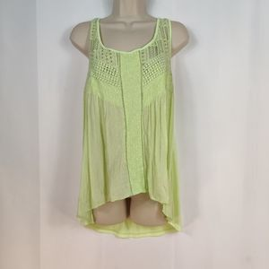 hint of mint crochet embroidered top tank style